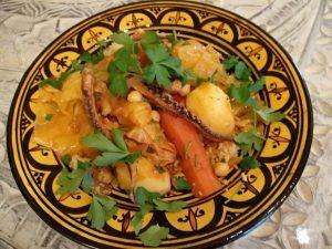 Couscous mit Oktopus