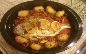 Fisch mit Chermoula aus dem Ofen