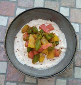 Paprika mit Joghurtsauce