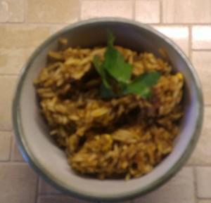 Lammhirn mit Reis