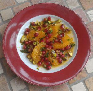 Orangensalat mit Granatapfel