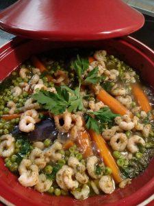 Gemüsetagine mit Krabben