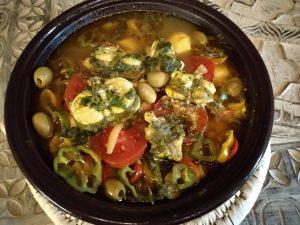 Seeteufeltagine mit Gemüse
