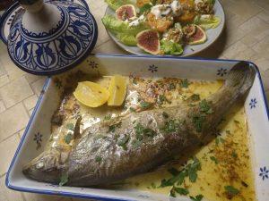 Forelle auf marokkanische Art
