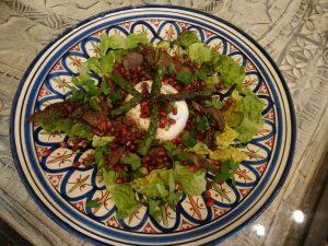 Hähnchenleber-Salat mit Burrata